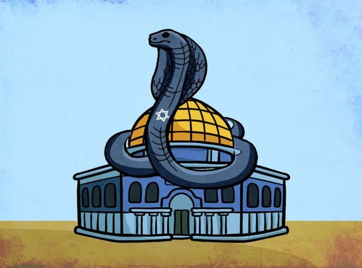 كاريكاتير / يقيناً سندخل بيتنا رغم سموم المحتلّ