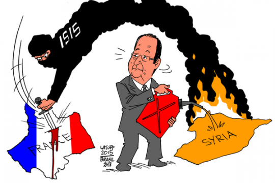 In 2014 French President Francois Hollande admitted arming Syria's Sunni 'rebels' Bataclan