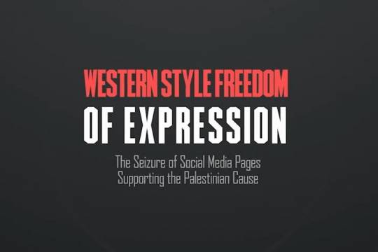 The Seizure of Social Media Pages Supporting the Palestinian Cause
